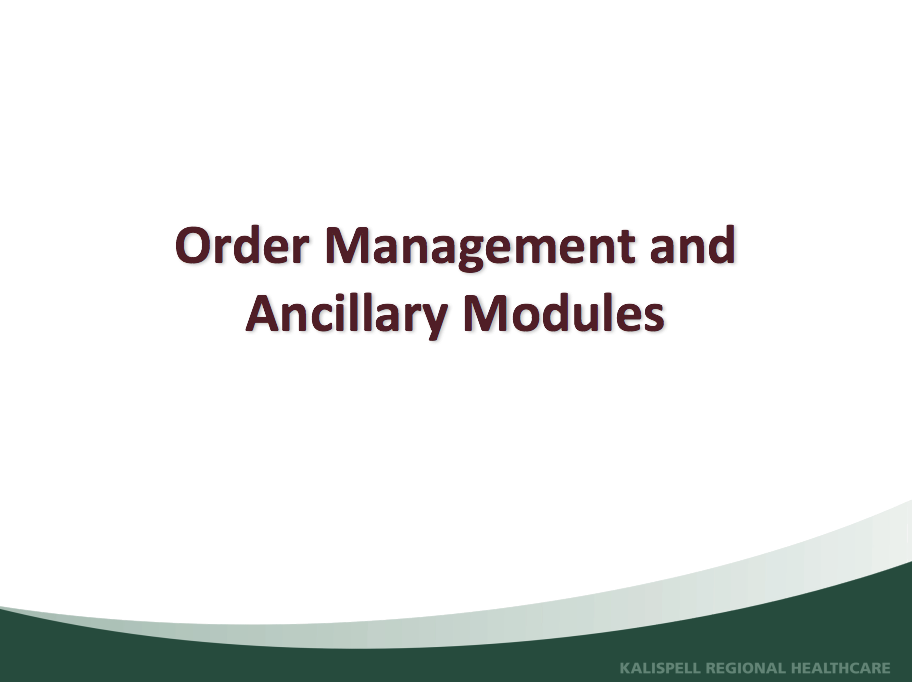 Order Mgmt