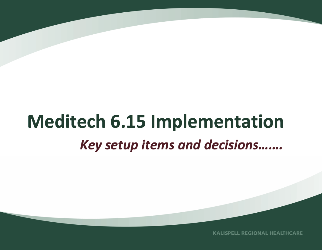6.15 Implementation